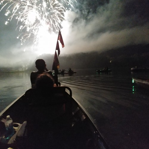 Watch the Fireworks by paddle craft