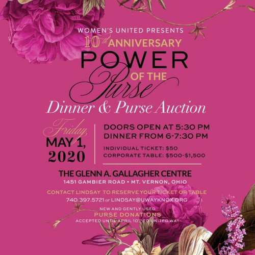 10th Anniversary: Dinner & Purse Auction